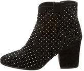 Rebecca Minkoff Suede Stud-Embellished Ankle Boots