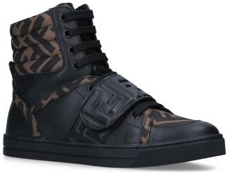 Fendi Kids High-Top Sneakers