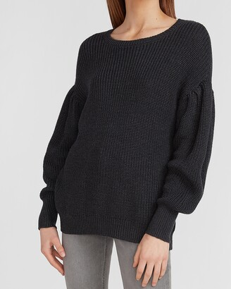 Express Drop Shoulder Blouson Sleeve Sweater