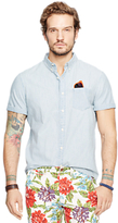 Denim & Supply Ralph Lauren Short Sleeve Denim Shirt, Light Blue
