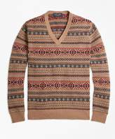 Brooks Brothers Braemar for Fair Isle V-Neck Sweater