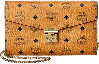 MCM Large Patricia Visetos Wallet On Chain