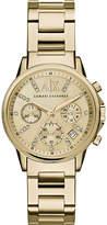 Armani Exchange Yellow gold bracelet watch