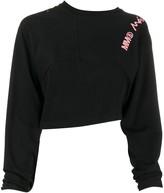 MM6 MAISON MARGIELA cropped logo sweatshirt