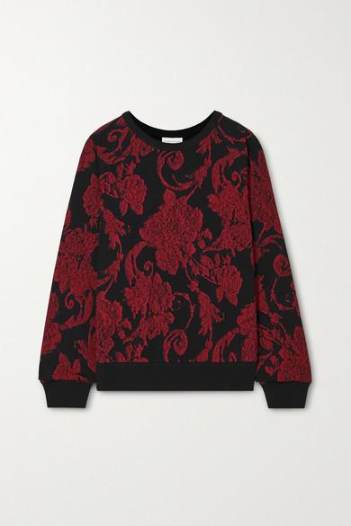 Dries Van Noten Habieso Floral-print Cotton-jersey Sweatshirt - Red