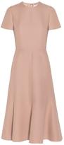 Valentino Ruffle Pleated Dress