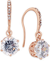 Charter Club Rose Gold-Tone Crystal Threader Earrings, Only at Macy's