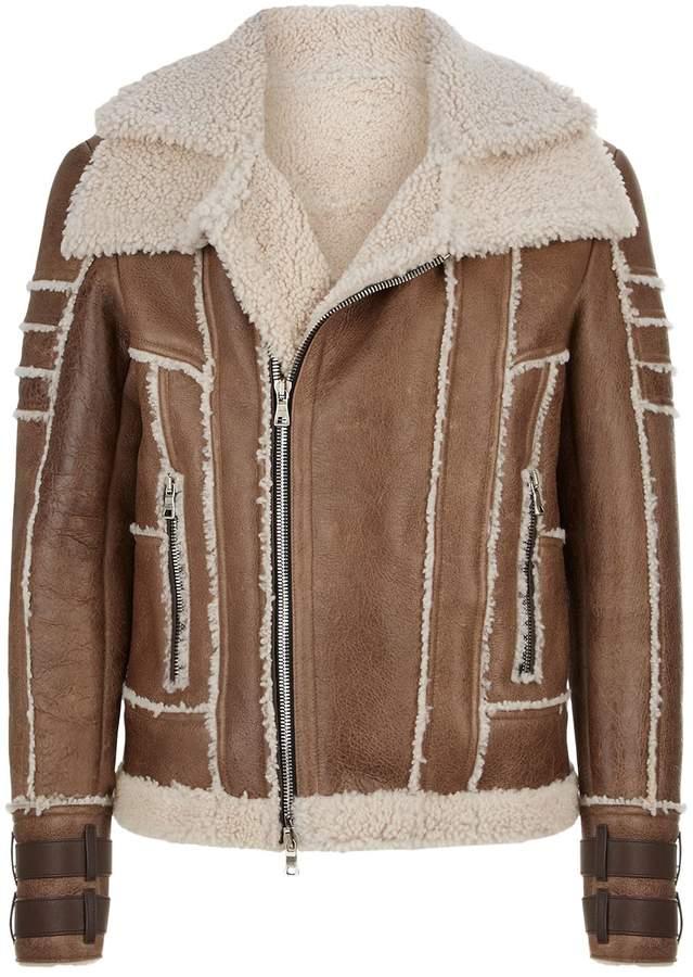 Balmain Leather Aviator Jacket