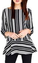 Wallis Women's Stripe Peplum Top
