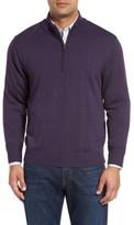 Cutter & Buck Men's Big & Tall Douglas Quarter Zip Wool Blend Sweater