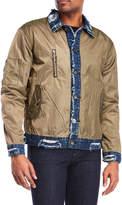 American Stitch Distressed Denim Trim Jacket