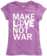 Urban Smalls Mauve 'Make Love Not War' Fitted Tee - Toddler & Girls