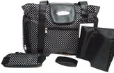 Skinly Small Dots Baby Diaper Bag Size Large Black