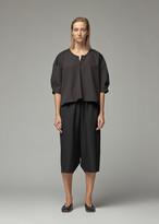 Comme des Garcons Women's Cotton Long Blouse in Black Size 1
