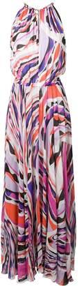 Emilio Pucci Burle Print Halter-Neck Maxi Dress