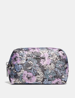 Coach Small Boxy Cosmetic Case With Heritage Floral Print
