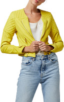Diane von Furstenberg As By One Love Cropped Leather Moto Jacket