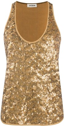 Zadig & Voltaire Coach sequin tank top