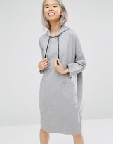 Monki Hooded Sweat Dress