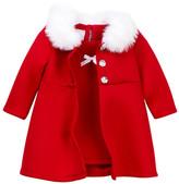 Iris & Ivy Scuba & Faux Fur Coat Set (Baby Girls)