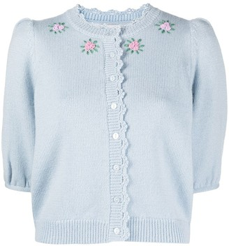 By Ti Mo Floral-Embroidered Cardigan