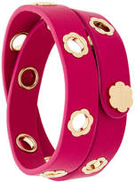 Salvatore Ferragamo flower leather bracelet