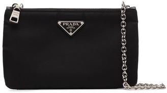 Prada Nylon Double-Compartment Crossbody Bag