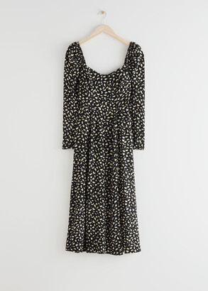 And other stories Puff Sleeve Midi Dress
