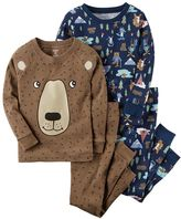 Carter's Toddler Boy 4-pc. Bear Tops & Pants Pajama Set