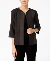 Eileen Fisher Organic Cotton Textured Printed Jacket