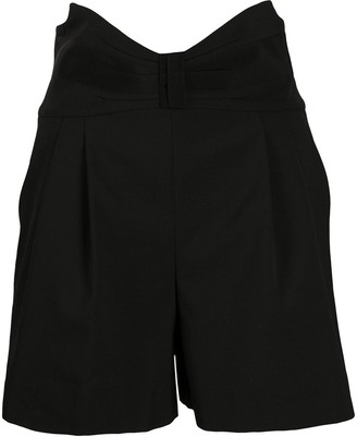 RED Valentino Tuxedo Bow Detail High-Waisted Shorts