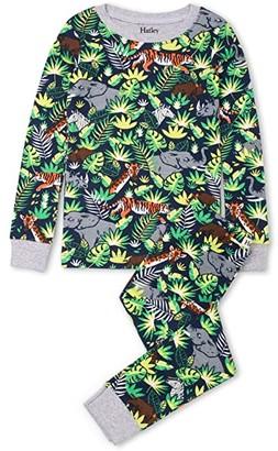 Hatley Jungle Safari Organic Cotton PJ Set (Toddler/Little Kids/Big Kids) (Blue) Boy's Pajama Sets