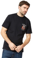 Weird Fish Big And Tall Black 'motorcod' Print T-shirt