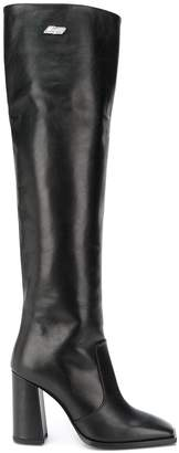 MSGM knee-height square toe boots