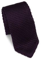 hook + ALBERT Solid Silk Knitted Tie