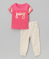 Juicy Couture Pink & White Tee & Pants - Toddler & Girls