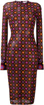 Givenchy geometric print fitted dress - women - Polyamide/Viscose - 36