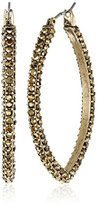Lucky Brand Gold Pave Hoop Earrings