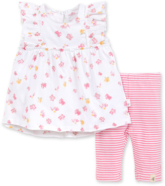 Burt's Bees Ditsy Daisy Organic Baby Tunic & Stripe Capri Legging Set