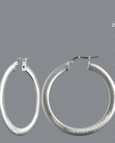 silver etched hoop earrings