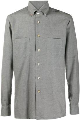 Kiton Button-Down Long-Sleeved Shirt