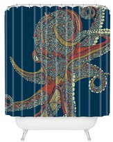 "DENY Designs Valentina Ramos Azzuli Shower Curtain in Navy by 71""x74"")"