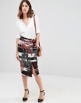Warehouse Leaf Print Skirt
