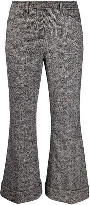 No.21 Flared Herringbone Trousers