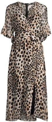 Elie Tahari Ava Cheetah-Print Silk Dress