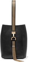 Lanvin Chain-trimmed Leather Wristlet Bag - Black