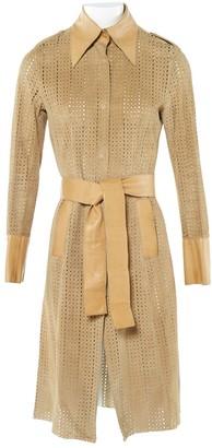 Dolce & Gabbana Beige Suede Coats