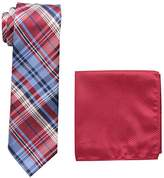 U.S. Polo Assn. Men's Traditional Plaid Tie And Pocket Square Set