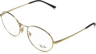 Ray-Ban Women's 0rx6439 Metal Oval Optical Prescription Eyewear Frames
