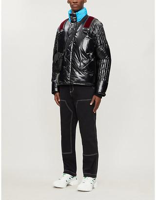 Nicomede Puffa Velvet trim padded shell jacket